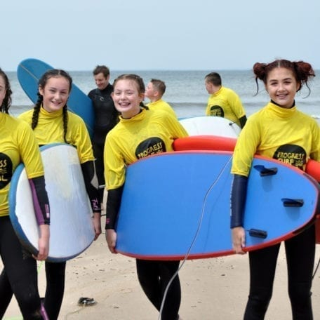 kids surfing party