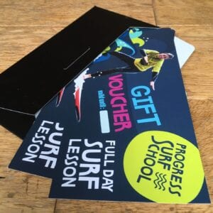 full day surf lesson gift voucher