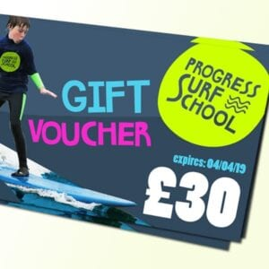 surf lesson gift voucher £30