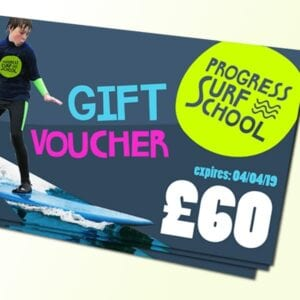 surf lesson gift voucher £60
