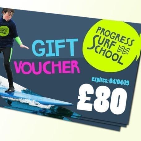 surf lesson gift voucher £80