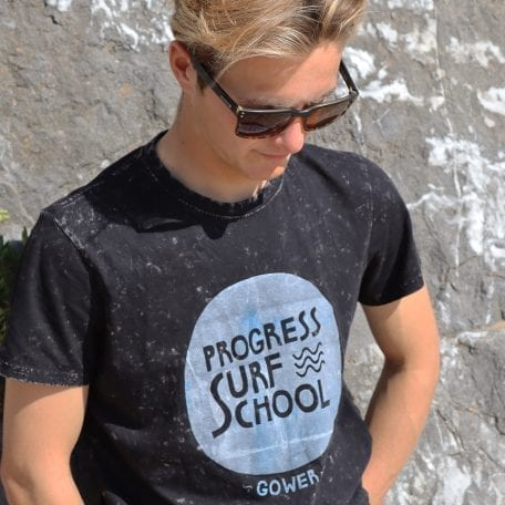 surf school corroded t-shirt