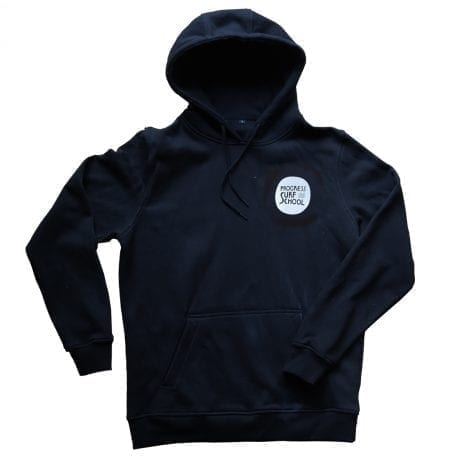Black Surf School Hoodie with wash print