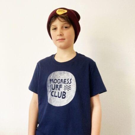 hand printed kids surf club t-shirt